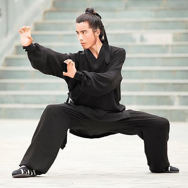 Daoist Uniform Black with Cuffs