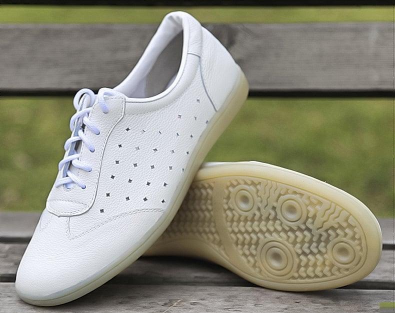 Summer Taiji Leather Shoes White