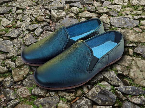 Classic Gong Fu Shoes Black Full Leather