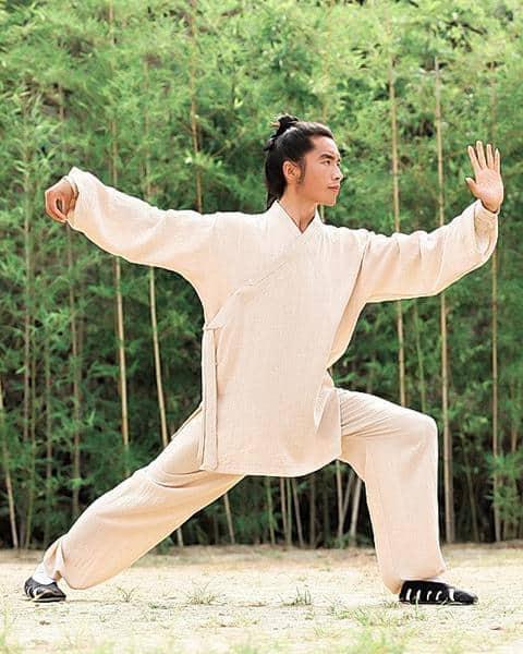 Daoist Uniform Beige with Cuffs