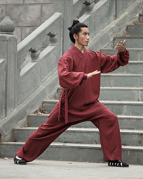 Daoist Uniform Maroon with Cuffs