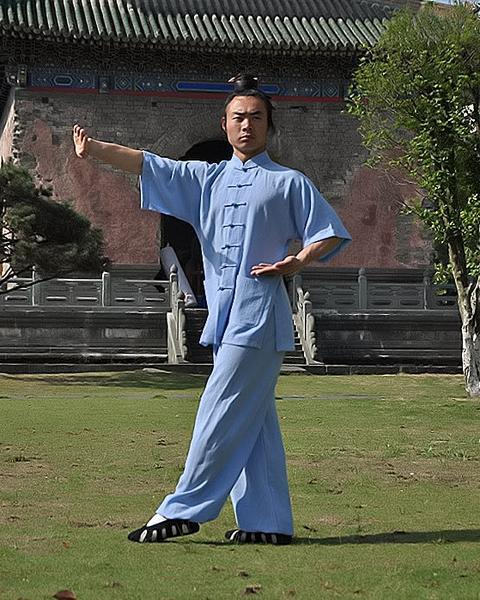 Summer Taiji Uniform Sky-Blue