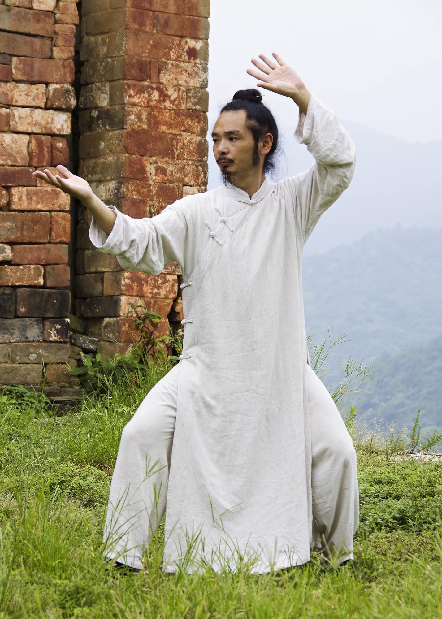 Chen Shiyu's Daoist Uniform Beige