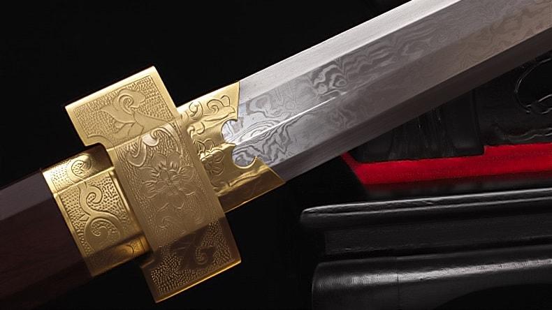 Spiritual Harmony Folded Steel Han Dynasty Jian Gold
