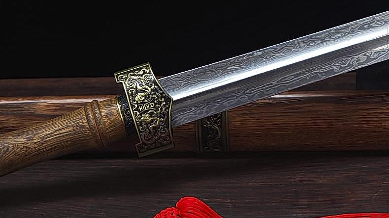 Traditional Pattern Steel Qin Jian