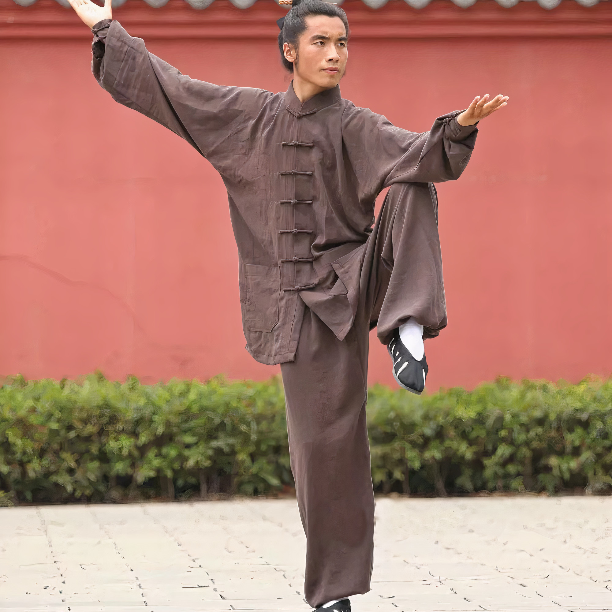 Traditional Wudang Uniform Brown