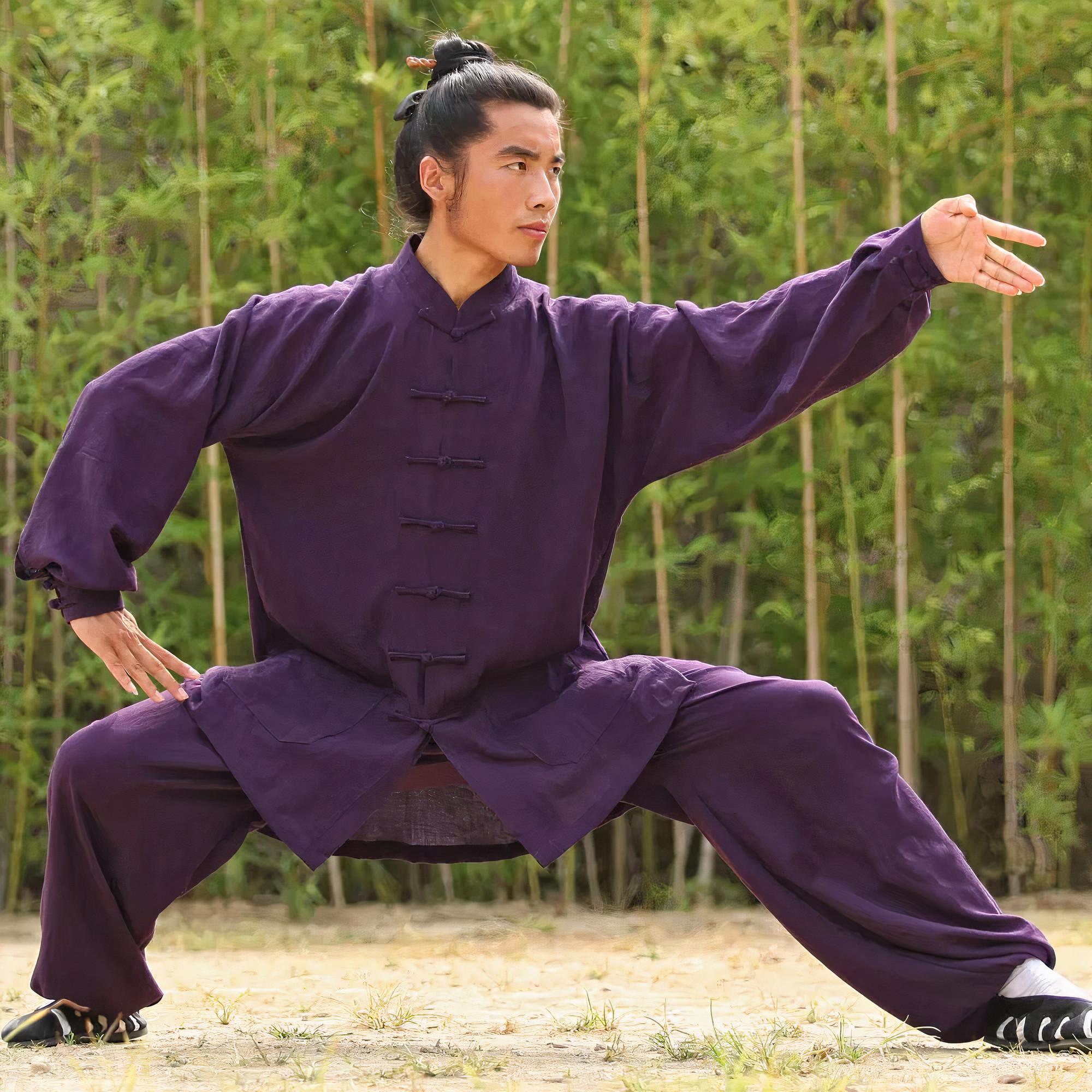 Traditional Wudang Uniform Dark Purple