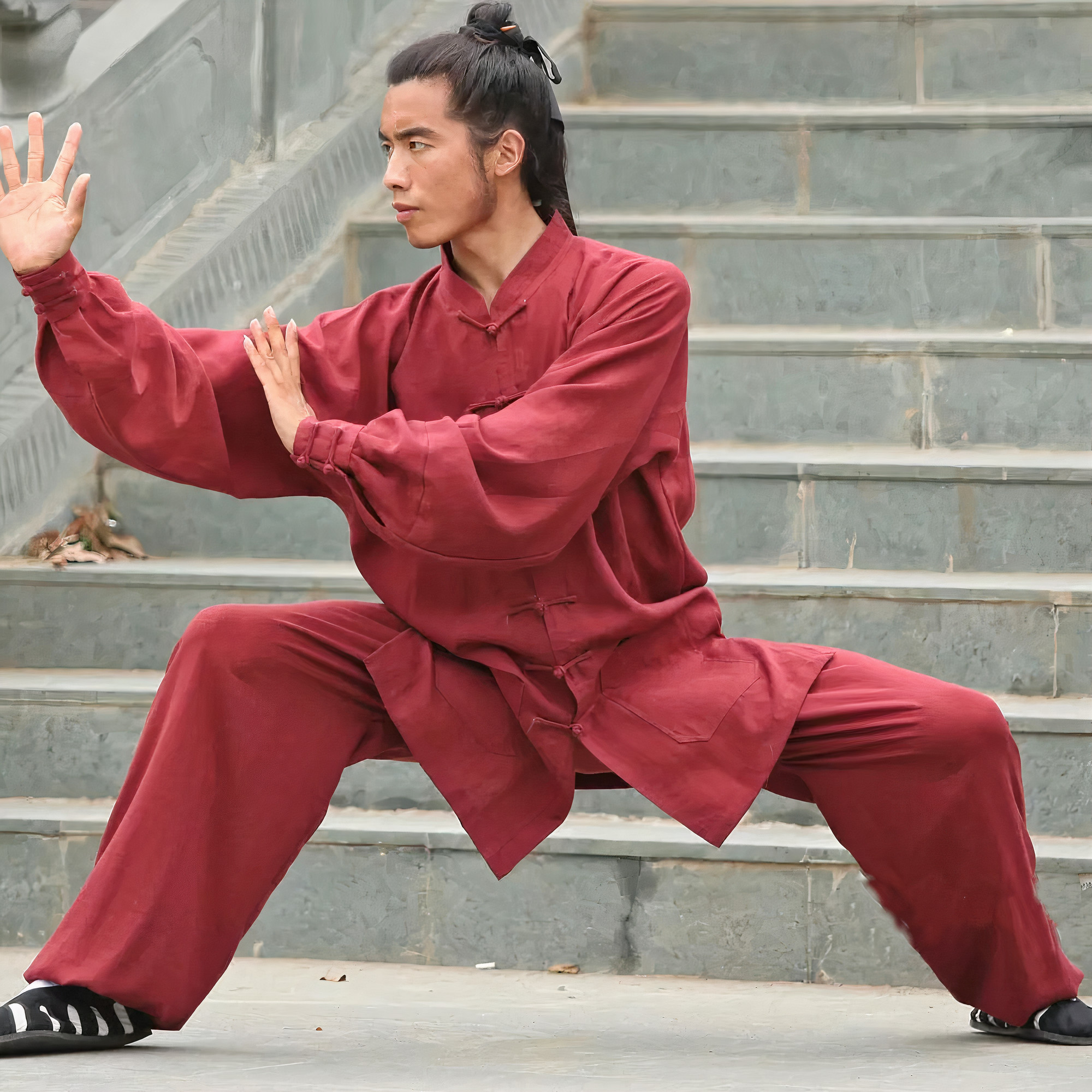 Traditional Wudang Uniform Red