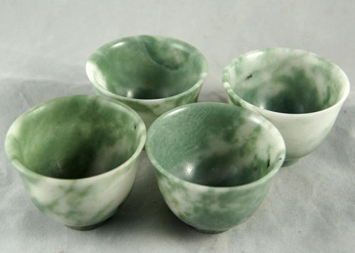 Authentic Green Jade Hand Grinded Tea Set