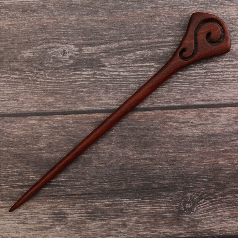 Traditional Daoist Red Sandelwood Hairpins