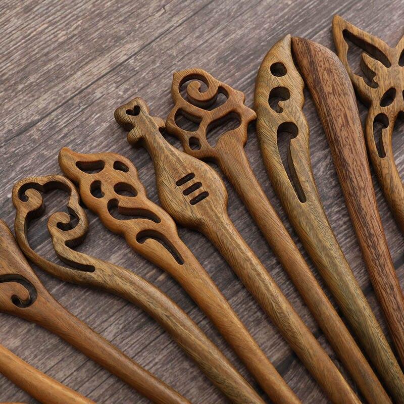 Traditional Daoist Sandalwood Hairpins